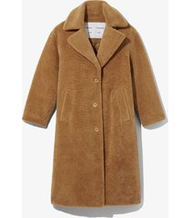 proenza schouler white label teddybear coat 00949 toast/brown xxs
