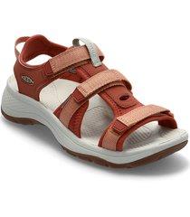 ke astoria west open toe w redwood-pheasant shoes summer shoes flat sandals röd keen
