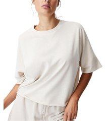 women's clubhouse shorts sleeve fleece top