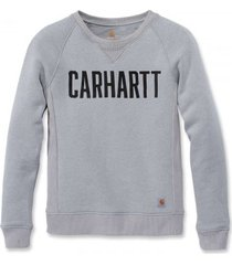 carhartt trui women clarksburg graphic crewneck asphalt heather-xs