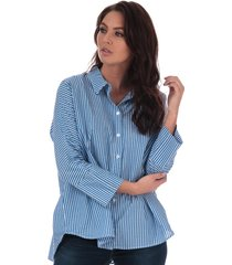 only womens grace striped cotton shirt size 10 in blue