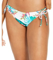 sundazed hot tropics kylie strappy tie-side bottoms, created for macy's women's swimsuit