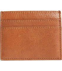 women's madewell the leather card case - brown