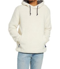 chubbies the snow day fleece hoodie, size xx-large in natural at nordstrom