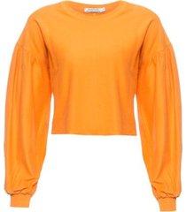 blusão avessado isabella fiorentino para oqvestir - amarelo