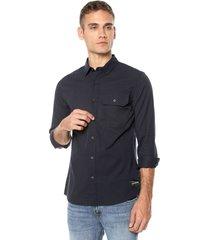 camisa azul navy calvin klein