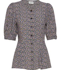 devagz blouse hs20 blouses short-sleeved multi/patroon gestuz