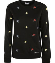 red valentino floral embroidered sweatshirt