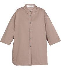 fabiana filippi cotton blend oversize shirt
