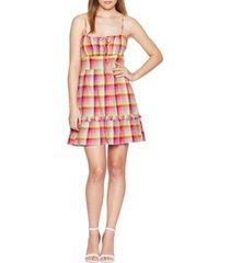 bcbgeneration plaid square-neck cami dress