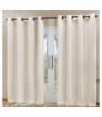 cortina blackout em tecido bege corta luz 2,80m x 2,30m