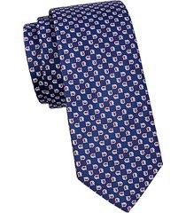 marine embroidered silk tie