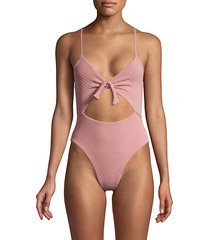 textured one-piece swimsuit