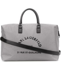 karl lagerfeld rue st guillaume weekend bag - silver