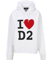 d squared ii love d2 hoodie