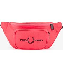 fred perry authentic graphic waist bag |pink|  l7235-d74