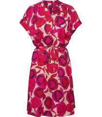 d1. fluid desert rose dress korte jurk roze gant