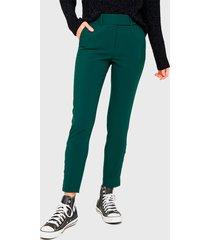 pantalón  io pitillo verde - calce ajustado