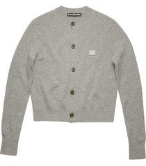grey melange wool cardigan