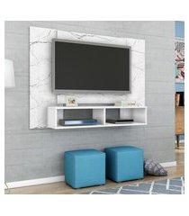 painel para tv até 48 pol navi móveis bechara 2 nichos 2 prateleiras