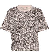 ss boxy tee fun zebra peach bl t-shirts & tops short-sleeved multi/mönstrad levi´s women