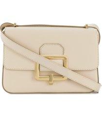 bally janelle buckle shoulder bag - white