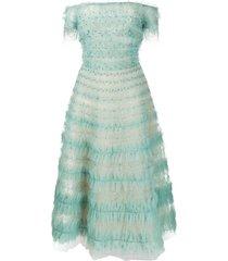 marchesa embellished tulle dress - mint