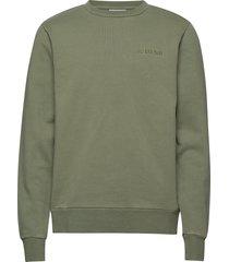 casual crew sweat-shirt trui groen han kjøbenhavn
