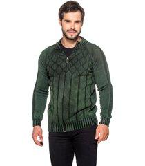 jaqueta officina do tricô espanha verde - kanui