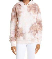 a.l.c. sonia tie dye hoodie, size medium in multi at nordstrom