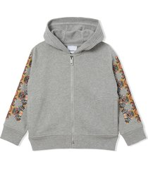 burberry grey cotton hoodie