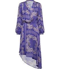 regina dress knälång klänning blå ravn