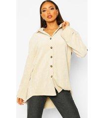 tall corduroy blouse, ivory