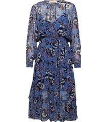 lara korte jurk blauw custommade