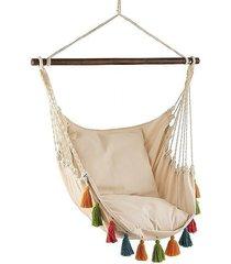 fotel hamakowy z kolorowymi chwostami