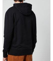 maison kitsuné men's grey fox head patch classic hoodie - black - xxl