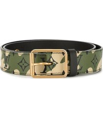 louis vuitton pre-owned x takashi murakami camouflage belt - green