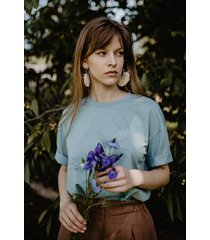 koszulka t-shirt z bawełny organicznej, niebieski