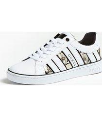 sneakersy ze wstawkami w wężowy print model bolier