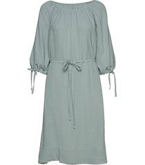 alem crepe round neck dress knälång klänning blå french connection