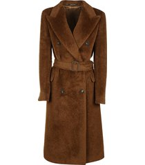 tagliatore double-breasted classic belted trench