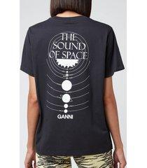 ganni women's floating on neptune t-shirt - phantom - m