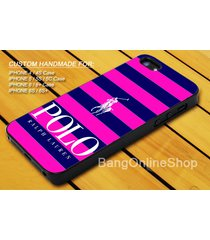 blue pink striped polo ralph lauren cover iphone 7 7+ 6 6s 6+ 6s+ 5 5s 4 4s case