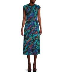 m missoni women's modern print dress - aqua - size 40 (4)