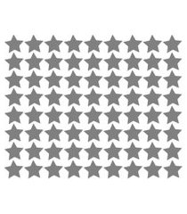 adesivo de parede estrelas prata 54un