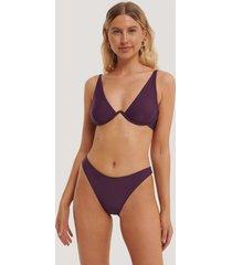 na-kd swimwear högt skuren bikinitrosa - purple