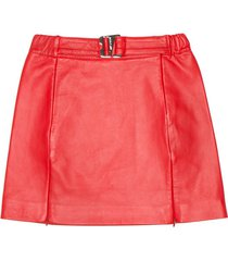 misbhv leather mini skirt