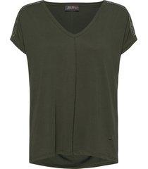 lennox v-ss tee t-shirts & tops short-sleeved grön mos mosh