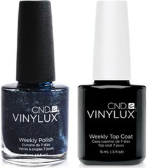 creative nail design vinylux midnight swim nail polish & top coat (two items), 0.5-oz, from purebeauty salon & spa