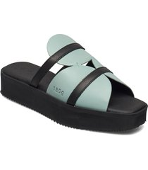 189g high ice blue leather shoes summer shoes flat sandals blå gram